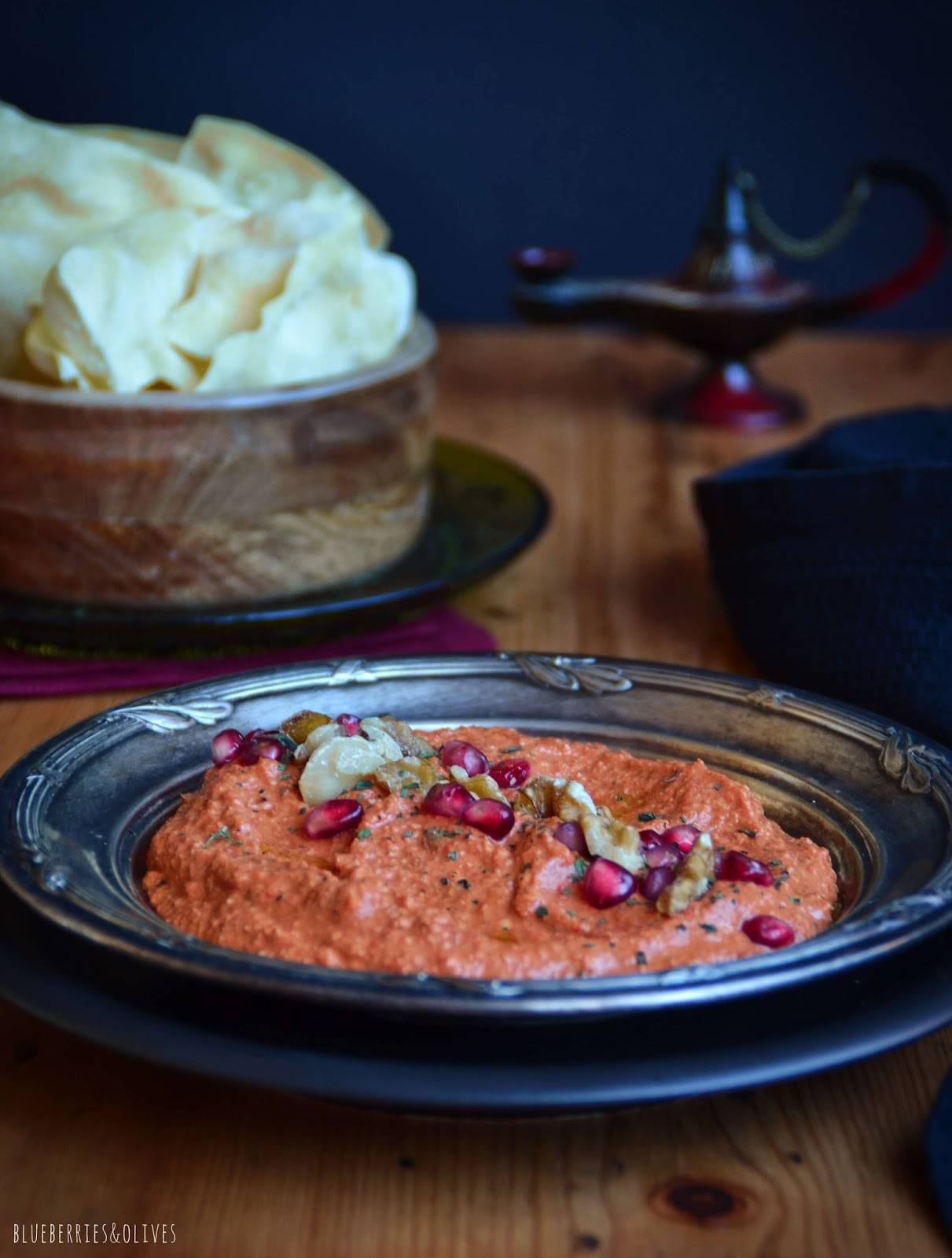 MUHAMMARA, SYRIAN DIP WITH PEPPERS AND WALNUTS