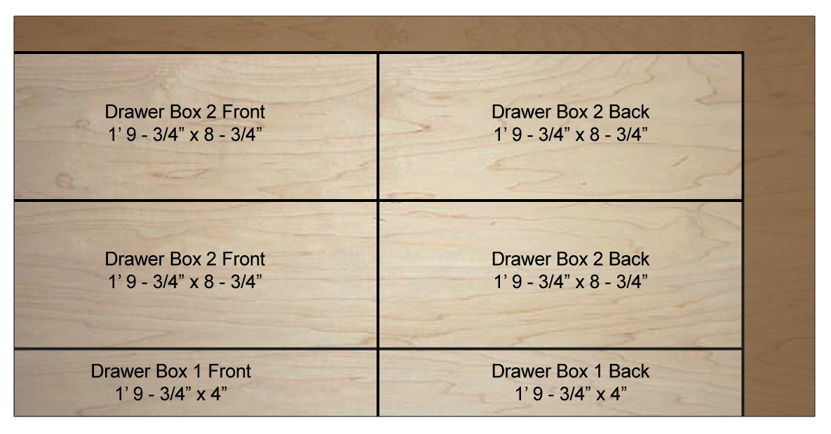 The 1 2 Plywood Is Used To Construct Drawer Boxes Youll Need X 4 Sheet A Good Choice PureBond Maple