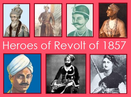 Heroes of Revolt of 1857