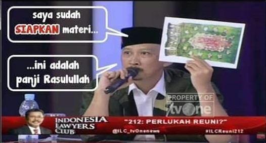 Kalah Debat, Abu Janda Sebut ILC Karni Ilyas Hanyalah Sandiwara TV