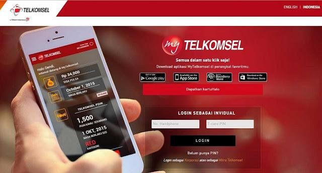 Tata Cara Isi Kuota Menggunakan Aplikasi MyTelkomsel