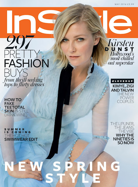 Actress, @ Kirsten Dunst - InStyle UK Magazine May 2016