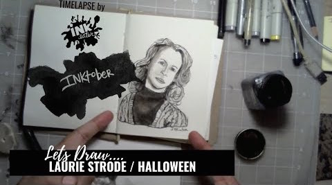 Laurie Strode from Halloween  - Bad Ass Ladies of Horror - Inktober 2018