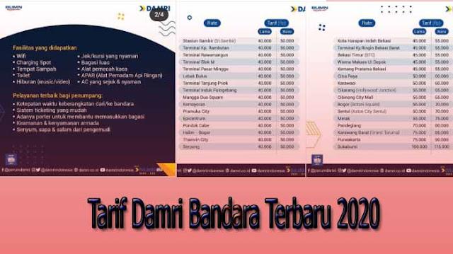 Tarif Damri Bandara dan Jadwal Terbaru di 2020