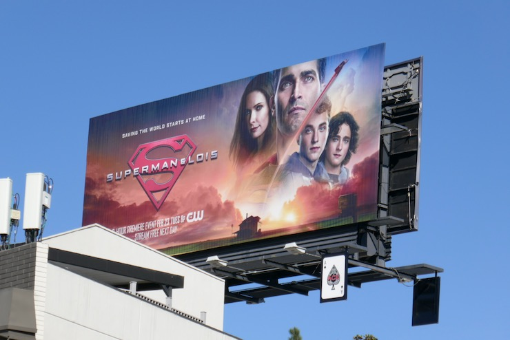 Superman and Lois series launch billboard