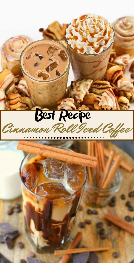 Cinnamon Roll Iced Coffee  #healthydrink #easyrecipe #cocktail #smoothie