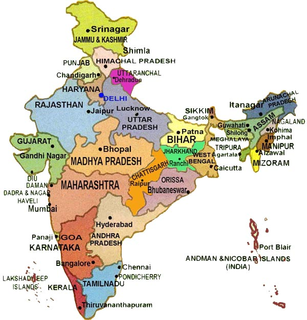 Índia | Mapas Geográficos da Índia