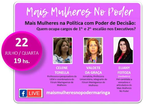 Live Mais Mulheres no Poder. Café com Jornalista