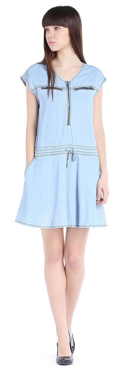 Robe courte Diesel bleu clair
