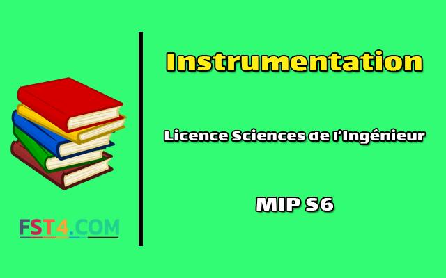 Cours Instrumentation mip s6 pdf