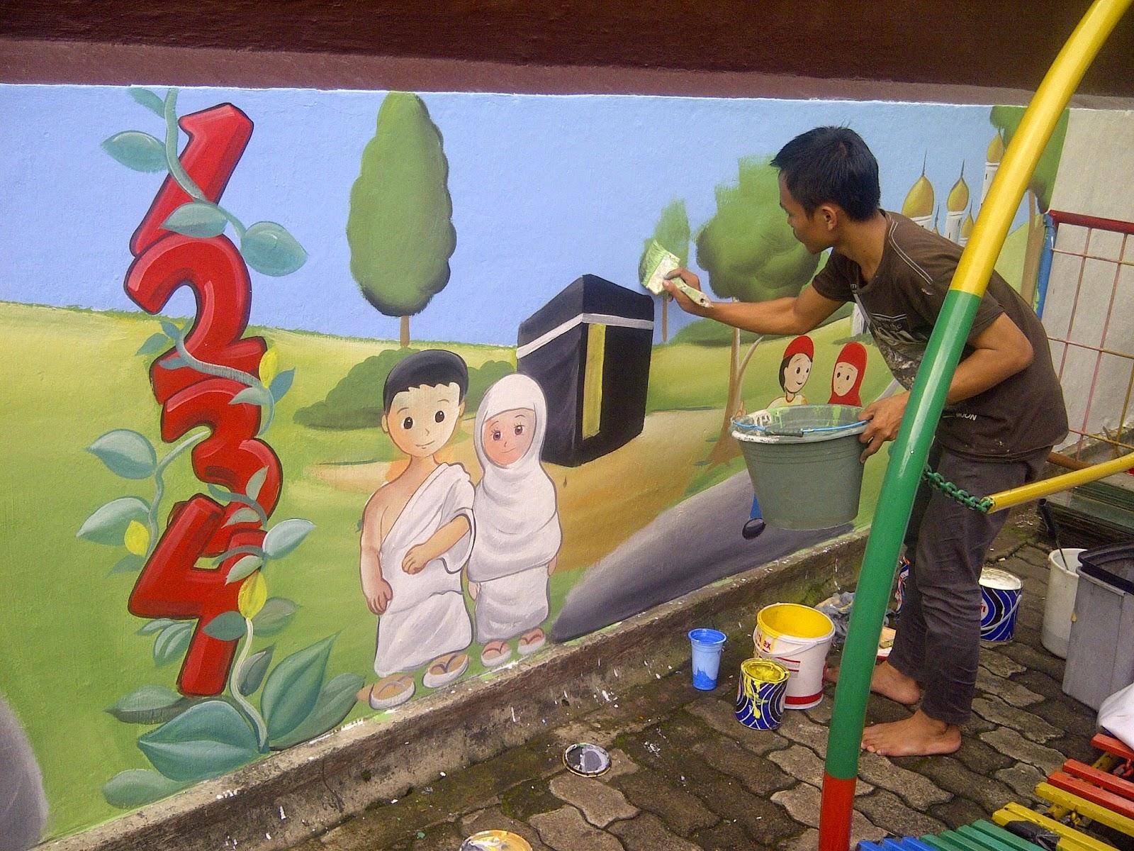 Lukisan Dinding Sekolah Tk Islami Sabalukisan