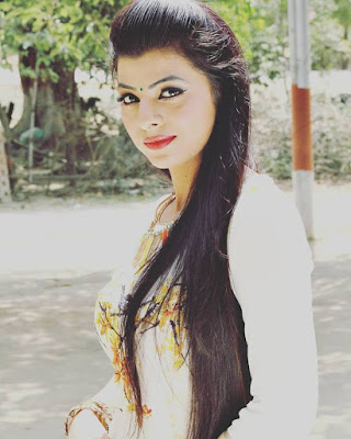 Kanak Yadav beautiful picture in white Dress.