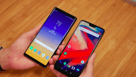 Samsung Galaxy Note 9 vs OnePlus 6