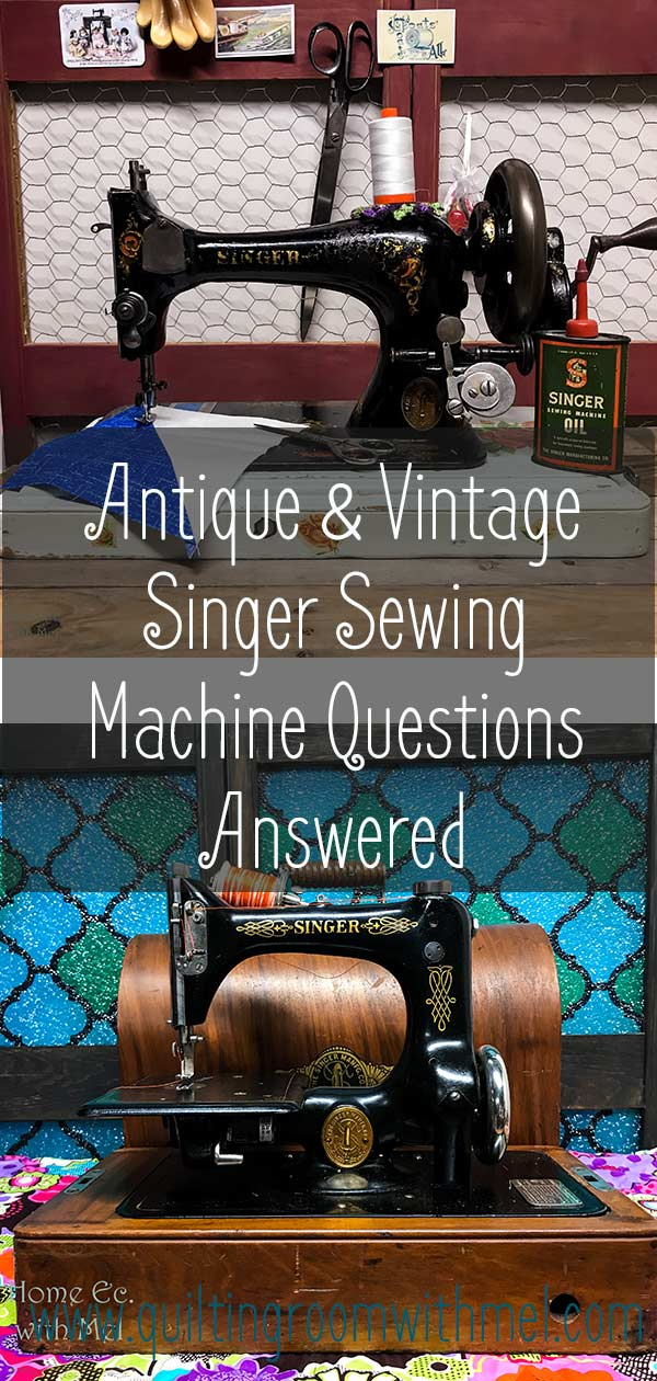 Answering your burning questions about antique and vintage singer sewing machine questions.
