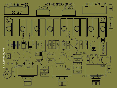 PCB Layout speaker aktif mini