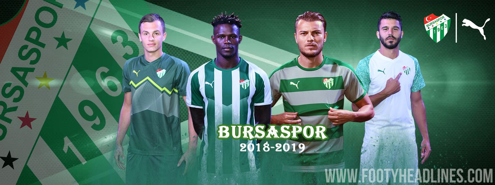 Turkish club Bursaspor launched its new 2018-2019 kits a short while ago.  They are made by Puma and feature a lot f6552733e