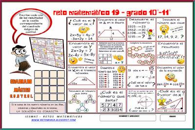 Cuadrados mágicos, Descubre el número, El número que falta, Retos para pensar, Problemas matemáticos, Retos matemáticos, Desafíos matemáticos, Retos de lógica, Problemas para pensar, Funciones trigonométricas, Triángulo rectángulo, Ángulos, Sistemas de Ecuaciones, Sólo para Genios, Piensa Rápido