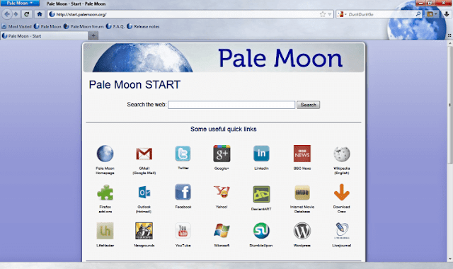 Pale Moon Browser Windows