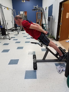 Better Living's Full Body Fit classes focus on core strength and balance, key aspects of fitness for senior citizens. Client Al Pieper works on his core during class.