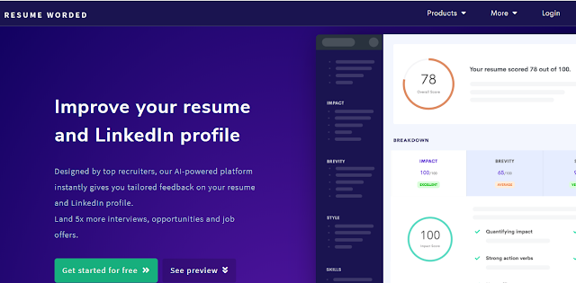 resume worded useful website for job seekers
