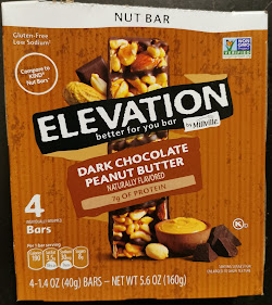 Packaging for Elevation Dark Chocolate Peanut Butter Protein Bar