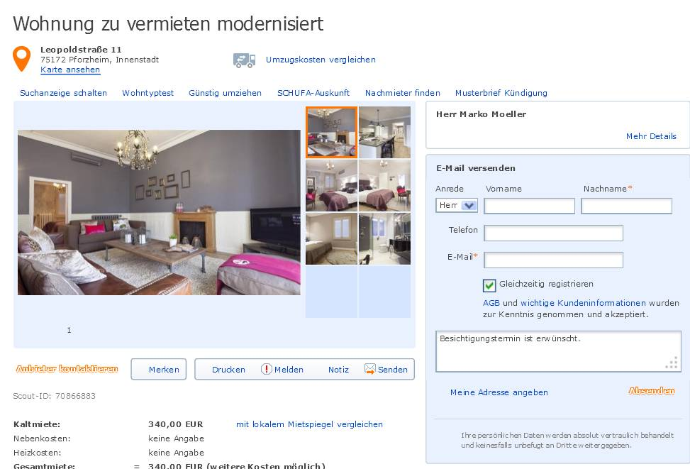 Wohnung Zu Vermieten Pforzheim