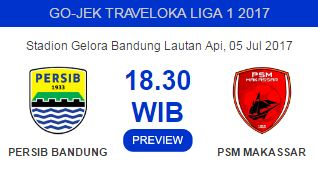 Jadwal Persib Bandung vs PSM Makassar