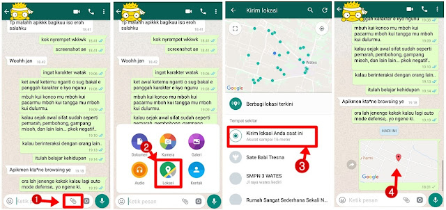 cara share lokasi google maps ke wa