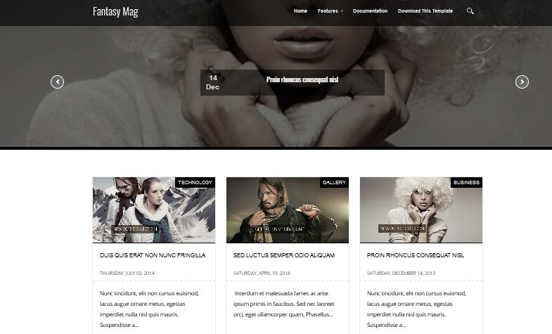 Fantasy Mag Blogger Template