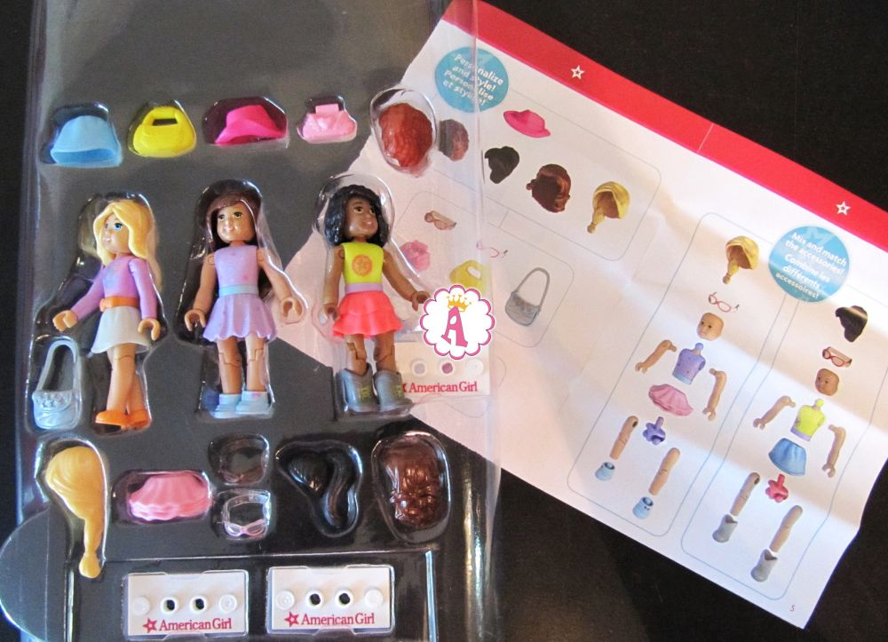 Мини фигурки с одеждой American Girl конструктор Mega Bloks