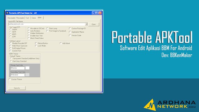 Portable APKTool M1 - Software Decompile Recompile BBM Android
