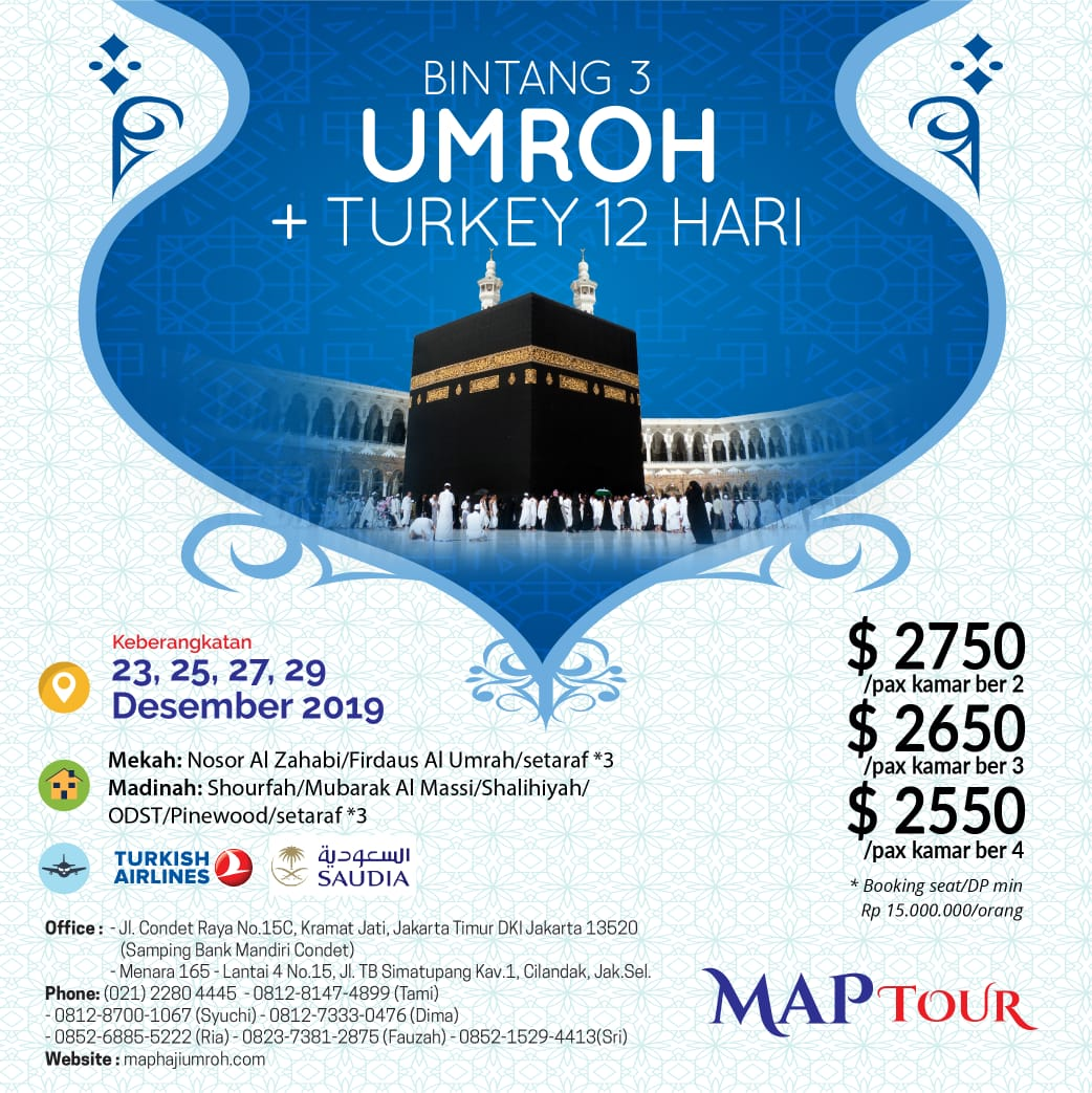 Banner Umroh Plus Turki MAP Tour