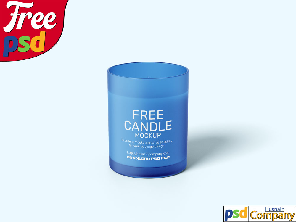 Download Free Candle PSD Mockup #3