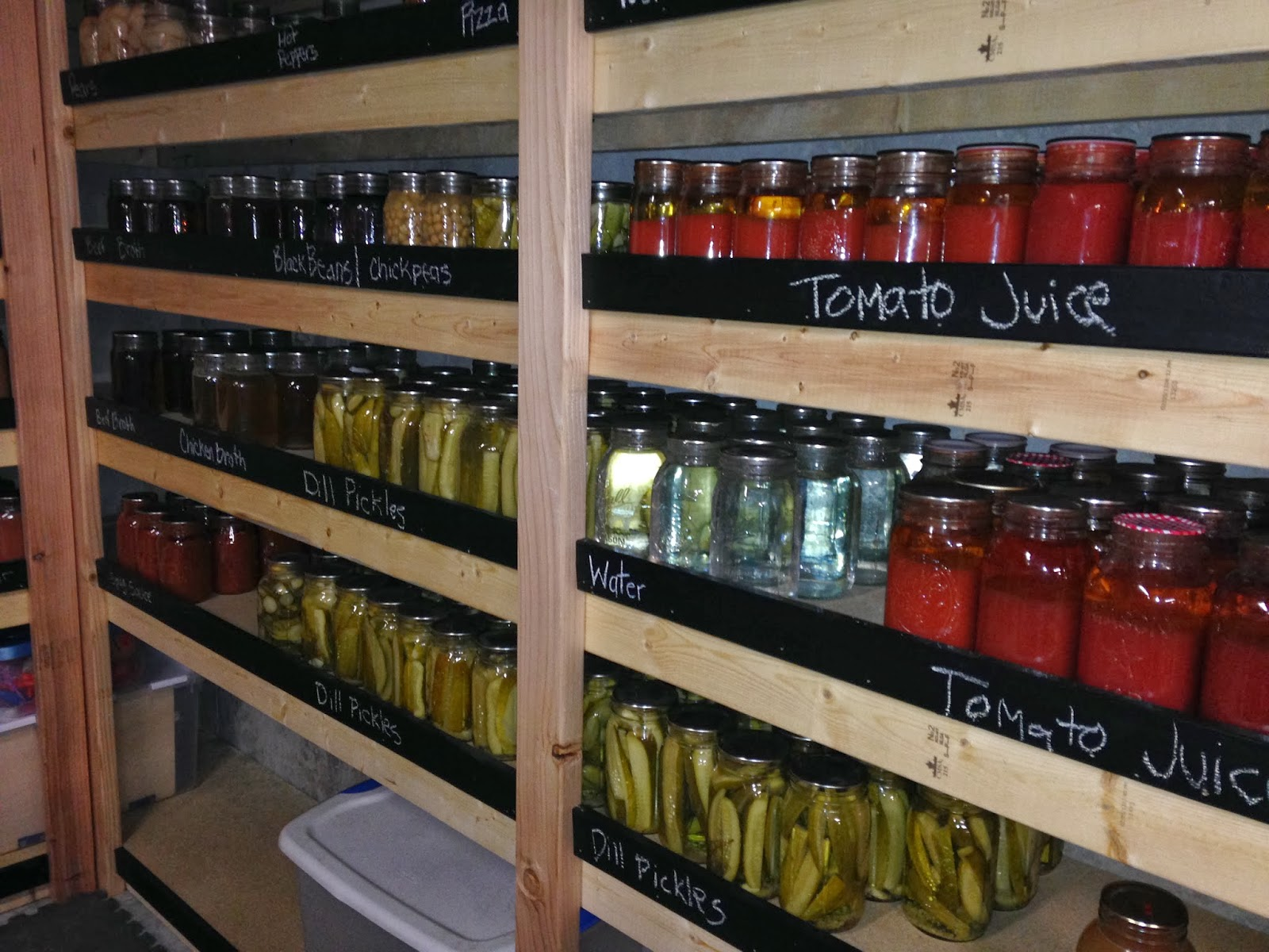 Recipes We Love Canning Pantry With Chalkboard Ledge To