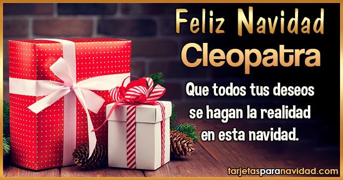 Feliz Navidad Cleopatra