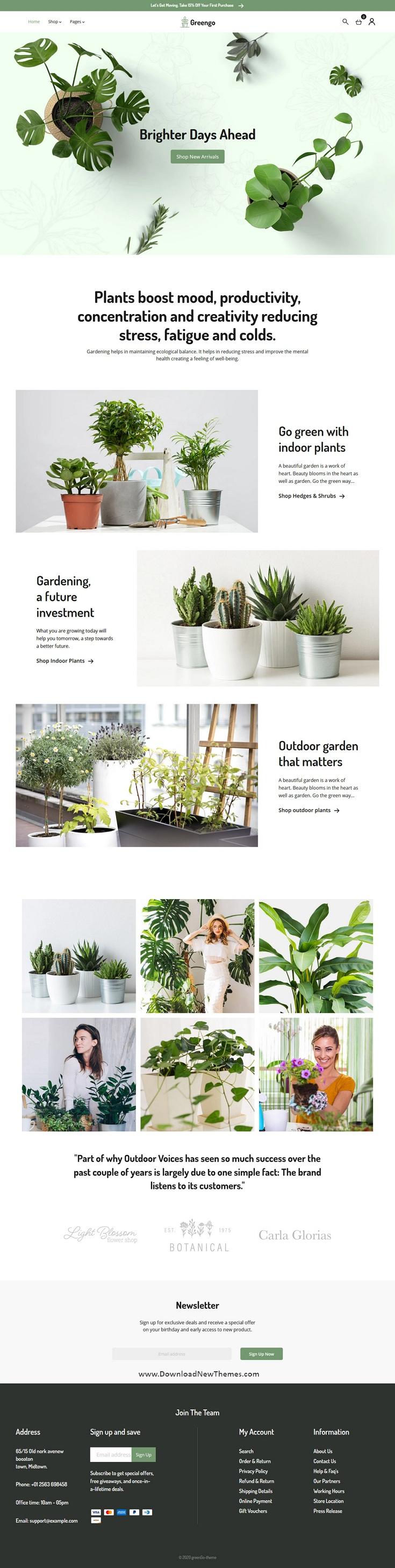 Organic Garden, Plant Shop Shopify Theme