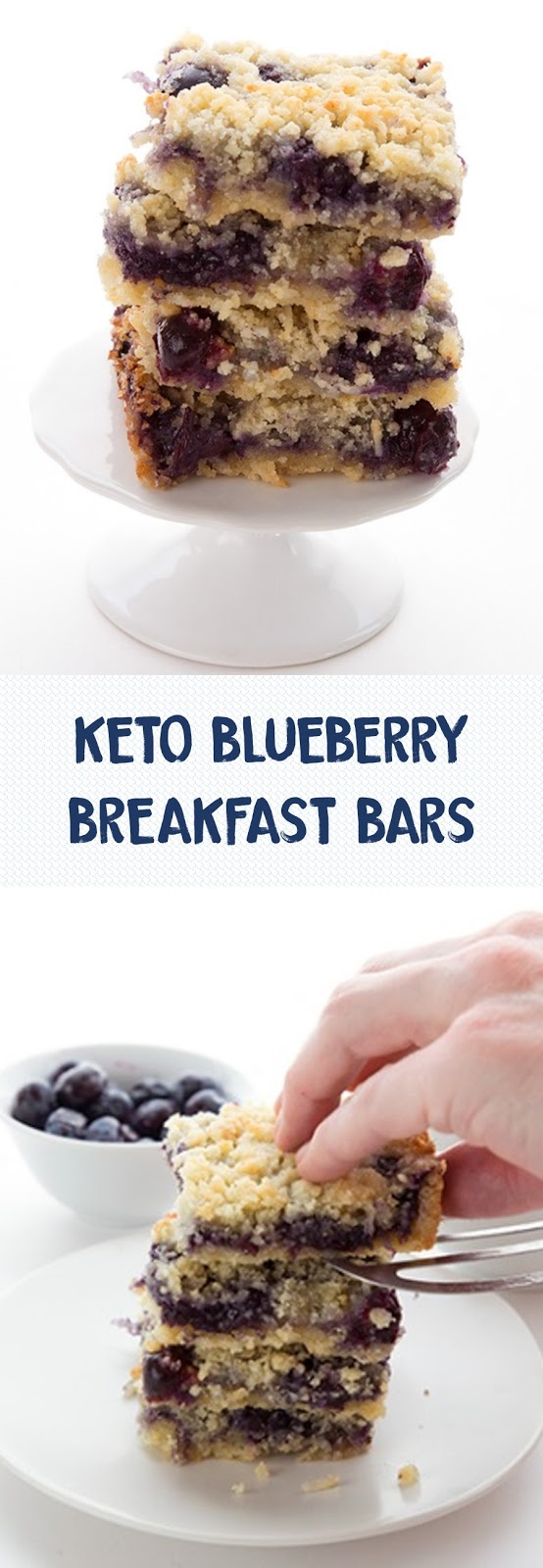 KETO BLUEBERRY BREAKFAST BARS