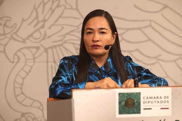 diputada Verónica Juárez Piña, coordinadora de la bancada del PRD
