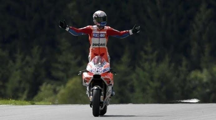 MotoGP: Dovizioso su Ducati trionfa a Misano davanti a Marquez, Rossi settimo.
