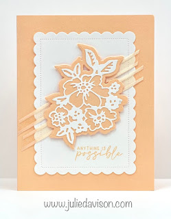 Stampin' Up! 2021-2023 In Color Cards using Penned Flowers and Scalloped Contours Dies ~ Pale Papaya ~ www.juliedavison.com #stampinup #incolor