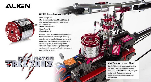 RC Helicopter Super Combo Align TREX 700X Dominator 1