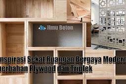 Inspirasi Sekat Ruangan Bergaya Modern berbahan Plywood dan Triplek