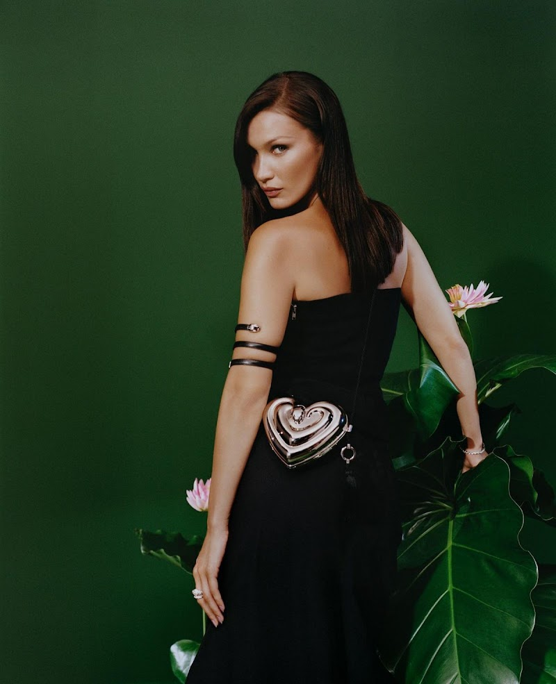 Bella Hadid Clicked for Ambush x Bvlgari Serpenti Handbags and Accessories Capsule Collection - August 2020