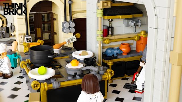 Ratatouille Kitchen LEGO Colette