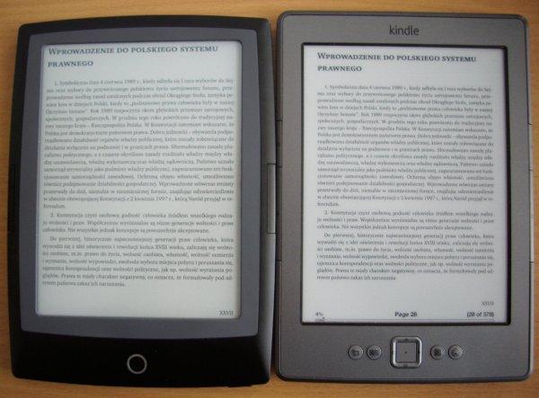 Cybook Frontlight HD i Kindle Classic - prównanie ekranów