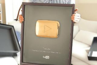 Golden YouTube Play Button Award