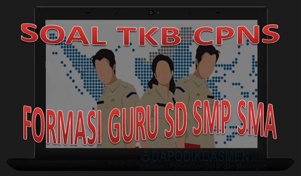 Download Soal TKB Guru SMP, contoh soal tkb guru matematika, soal tkb cpns guru matematika, contoh soal skb guru smp
