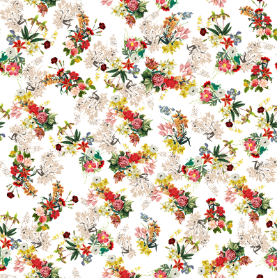 flower textile repeat 7053