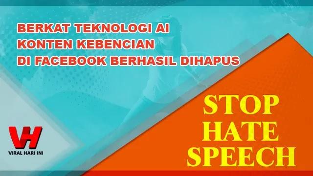 Konten Kebencian di Facebook Dihapus