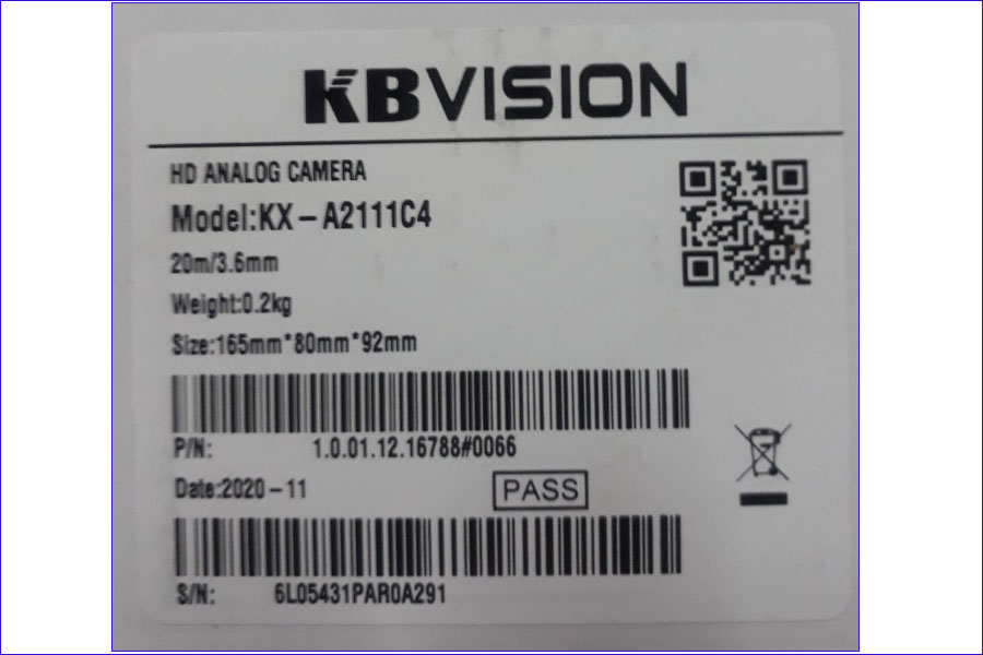 camera kbvision chính hãng
